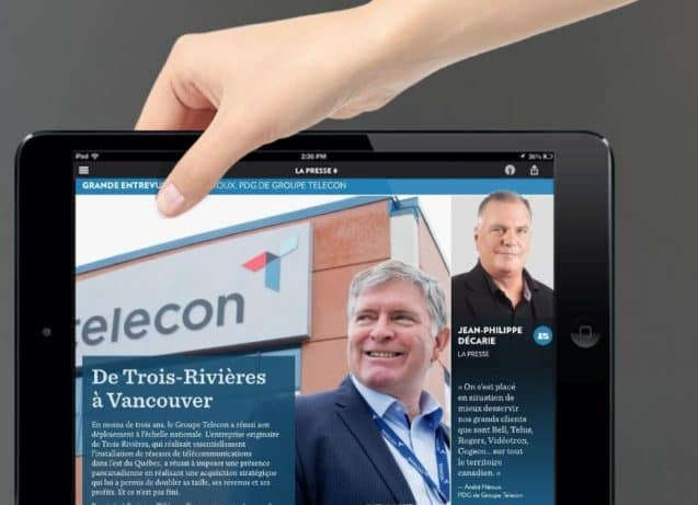Telecon featured in LaPresse+